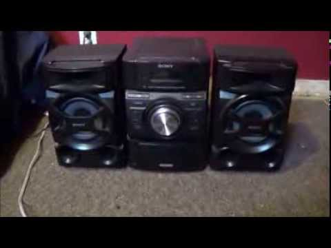 sony mini hi fi mhc ec69i shelf stereo system review youtube. Black Bedroom Furniture Sets. Home Design Ideas