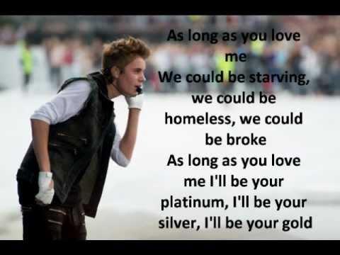 As Long As You Love Me With Lyrics Justin Bieber Ft Big