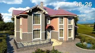 Смотреть видео Каталог проектов домов и коттеджей. Выбрать типовой готовый проект загородного