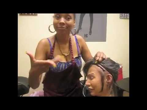 White girl gets a full sew,in weave with closure at Hair Escapades