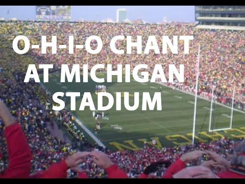 O-H-I-O chant at Michigan Stadium