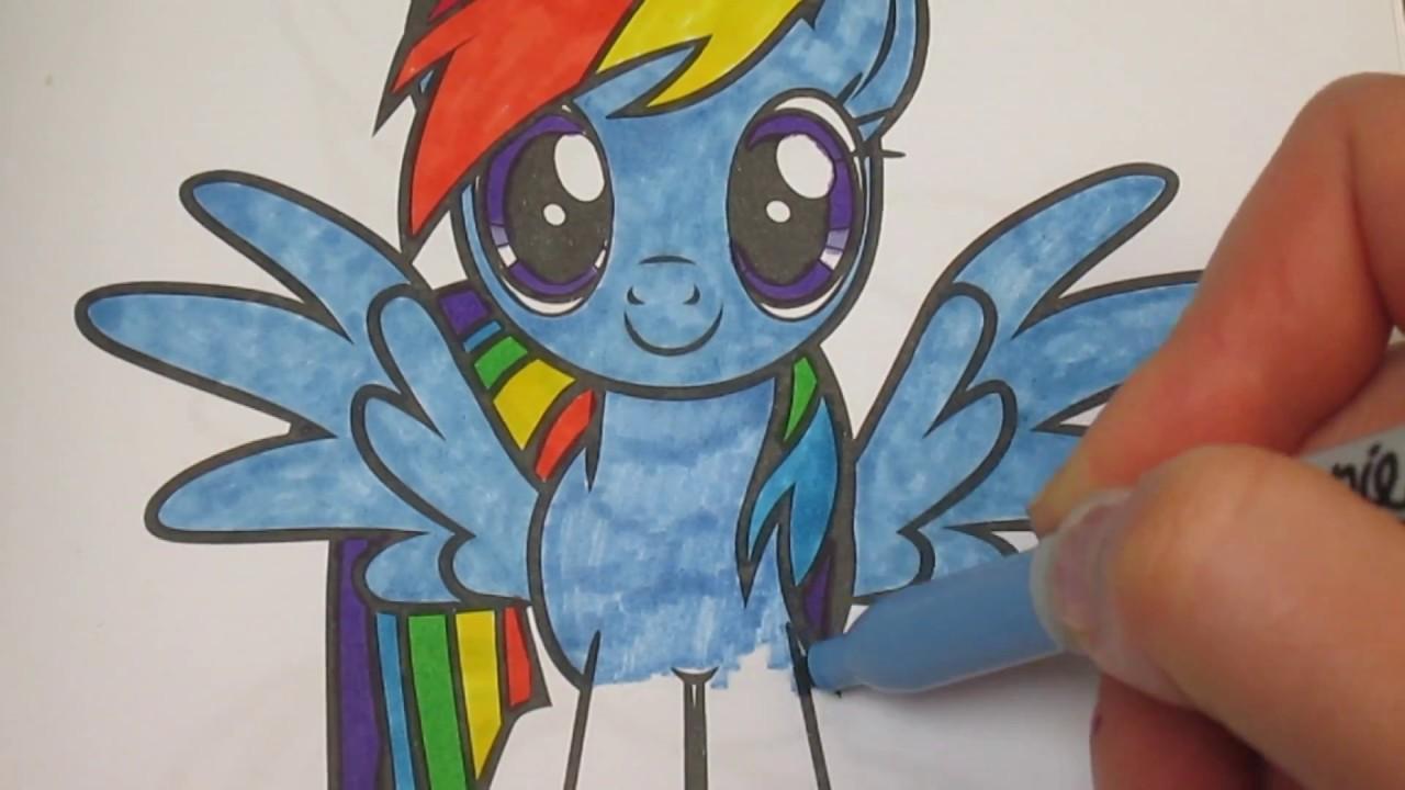 My Little Pony Coloring Book Rainbow Dash Kinder Fun ...