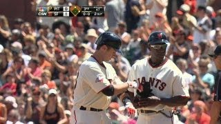 PIT@SF: Posey puts Giants up, 1-0, with an RBI single