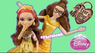 Ever After High Rosabella Beauty and Disney Princess Belle Doll Review and Comparison