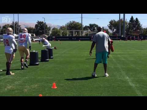 Charles Haley 'coaching' 49ers Defensive Linemen In August 2016