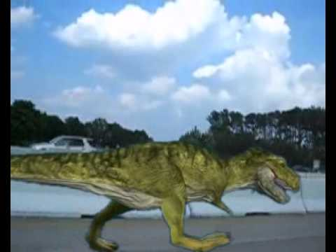 T Rex Run - Green Screen Test