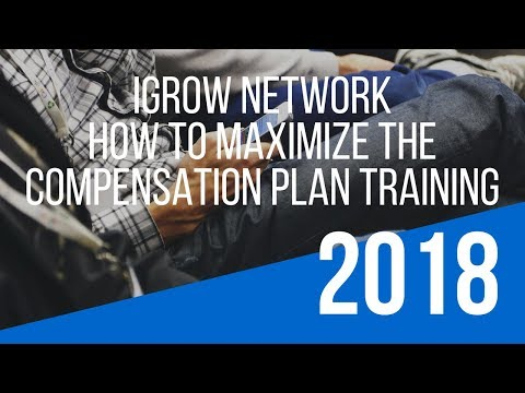 """""""iGrow Network Compensation Plan"""" Training – How To Maximize the iGrow Network Opportunity"""