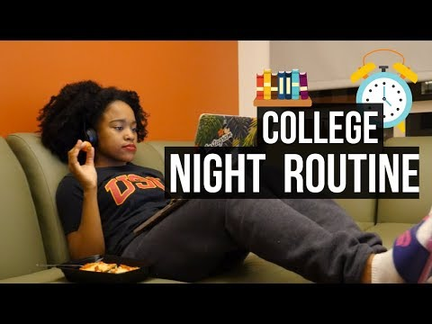 MY COLLEGE NIGHT ROUTINE! 2017