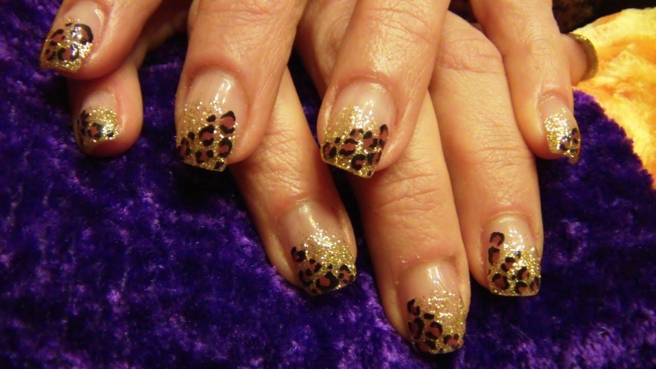Acrylic nail tutorial leopardcheetah print youtube solutioingenieria Choice Image