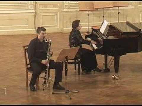 Bozza Ballada for Bass Clarinet & Piano