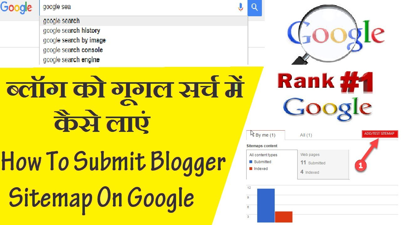 how to submit blogger sitemap on google ब ल ग क ग गल