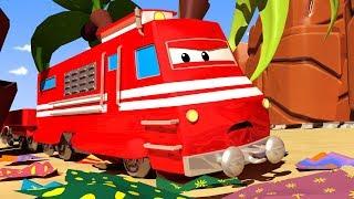 Поезд Трой -  Пасха: Мусороперерабатывающий поезд! - Автомобильный Город 🚄 детский мультфильм