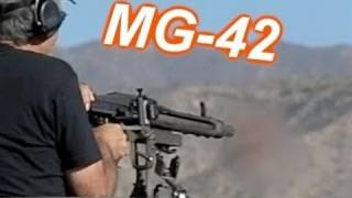 1200 Rounds per Minute:  MG-42  Machine Gun