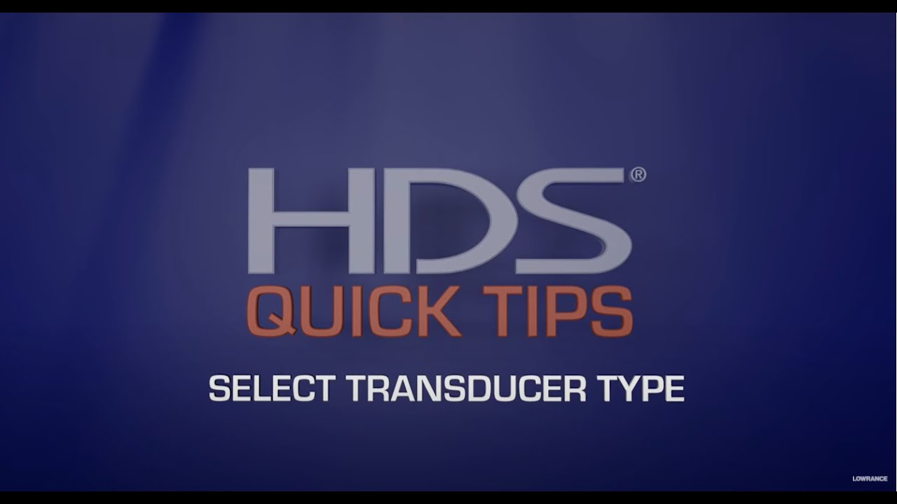 How To Select A Transducer Type On Lowrance Hds Units Youtube 7 Pin Wiring Diagram For Premium