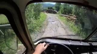 Robur 4x4 LD 2002A - Muddy road first drive POV - MotoBieda