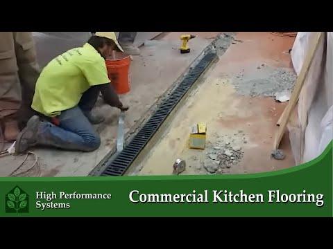 Restaurant Kitchen Flooring - YouTube