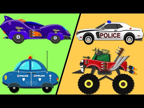 Sports Car Vs Monster Truck | Car Race | Police Car | Kids Videos