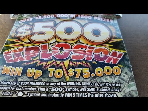 $500 EXPLOSION Indiana Lottery Scratch Ticket Live