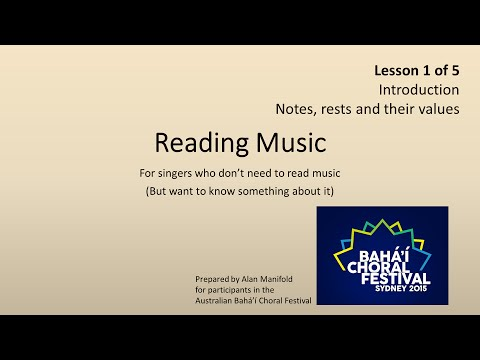 Reading Music - Lesson 1 (Introduction, Notes & Rests and their values)