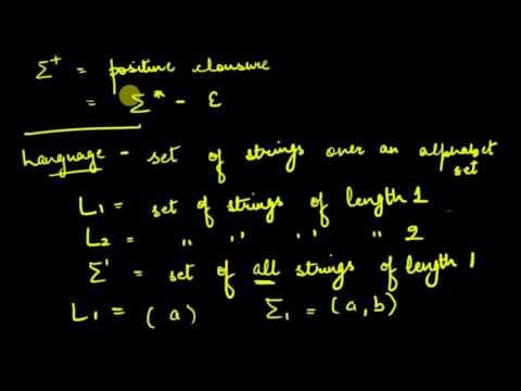 Alphabets, Strings, Languages (Formal Language) Automata