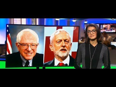 Bernie Sanders congratulates Corbyn on big win
