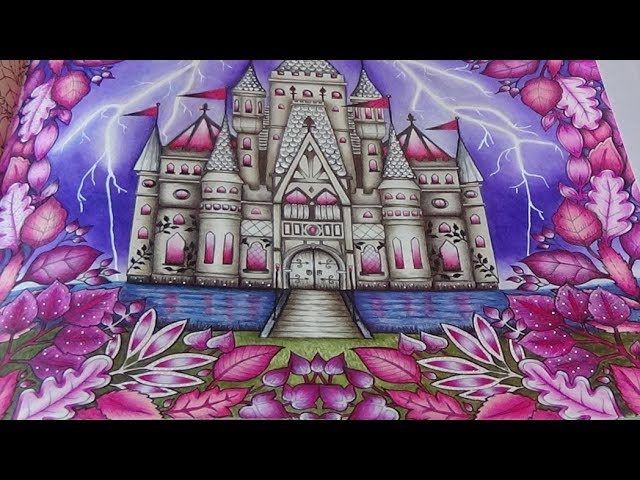 Enchanted Castle Tutorial 3 Mein Zauberwald Forest Johanna Basford Prismacolor