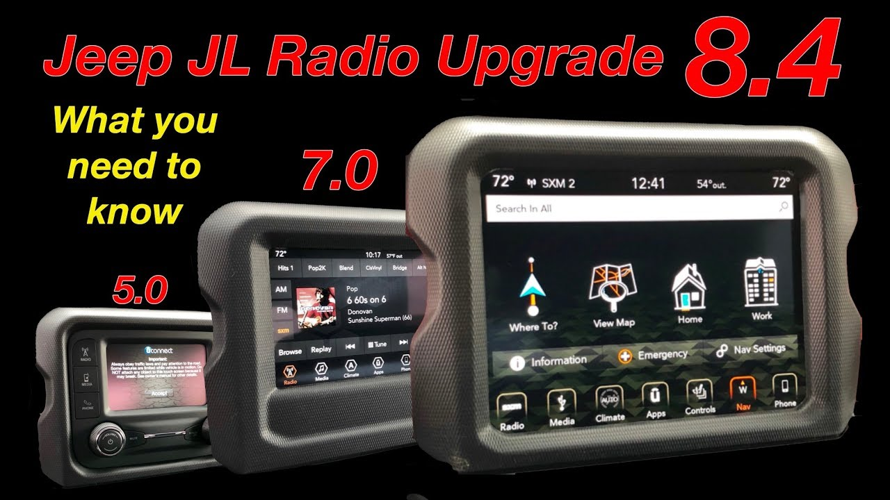 How To Update Uconnect Radio With Usb 2018 Jeep Wrangler Jl Youtube