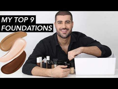 MY TOP 9 FOUNDATIONS!   Hindash