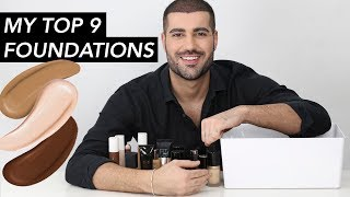 MY TOP 9 FOUNDATIONS! | Hindash
