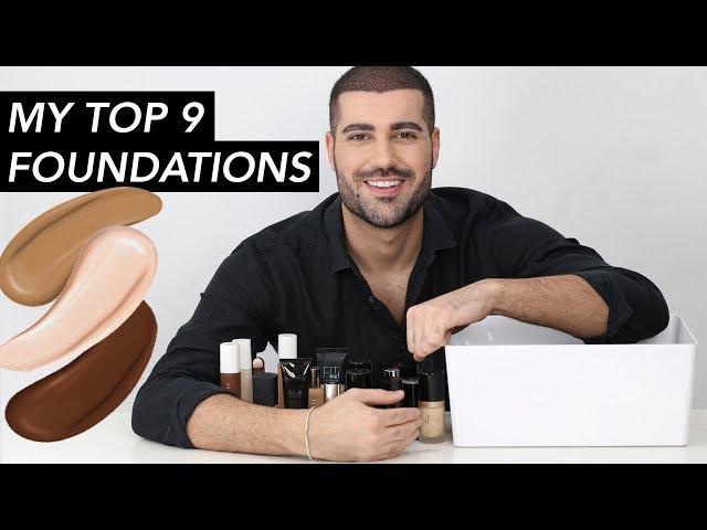 MY TOP 9 FOUNDATIONS! | Hindash