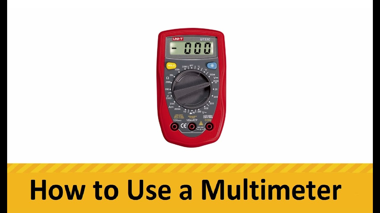 Using A Multimeter : How to use a multimeter youtube