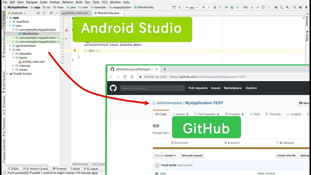 Android Interview Questions Github (java)android studio github connect / commit, push