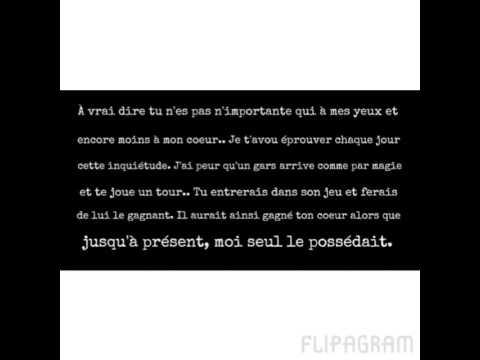 Texte écrit La Lui Dire Quon Laime Youtube