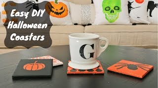 Easy DIY Festive Halloween Coasters in Minutes!