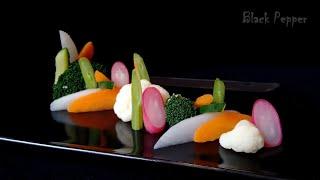 Салат гарнир к рыбе - Французский диетический салат | Шеф Black Pepper