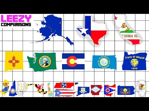 U.S States And Territories SIZE COMPARISON | LeeZY Comparisons