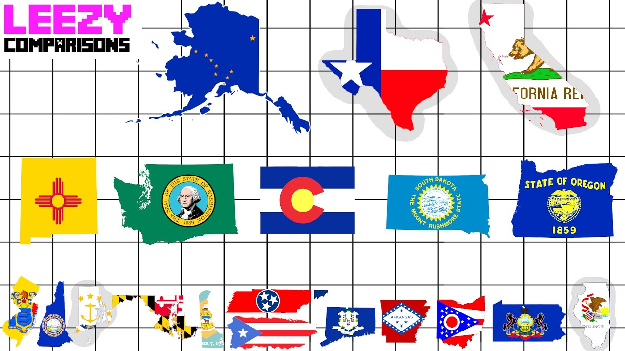 U.S States and Territories SIZE COMPARISON | LeeZY Comparisons