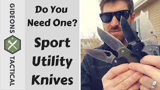 Why You Need A Sport Utility Knife (the acronym is hilarious)
