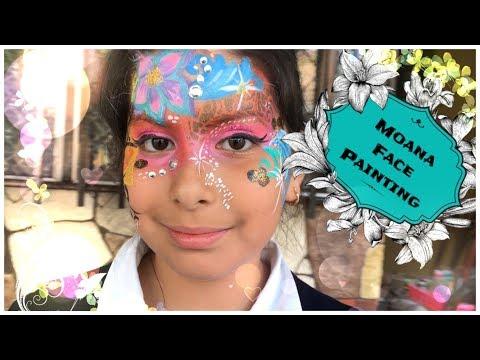 Moana Face Paint Design