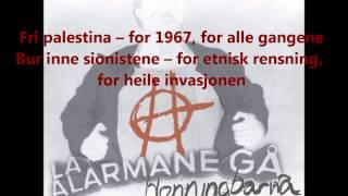 Honningbarna - Fri Palestina - Lyrics