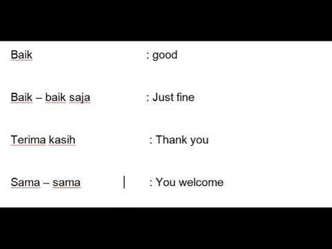 Indonesian language greeting youtube indonesian language greeting m4hsunfo