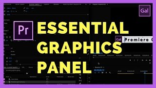 the NEW Essential Graphics Panel in Adobe Premiere Pro CC 2017 (Spring Update)