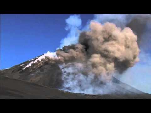 Etna: Pyroclastic flows and lava fontaining.