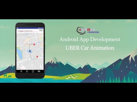 Android Studio Tutorial - UBER Car animation