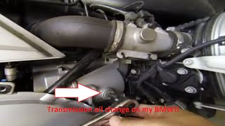 BMW R1200RT transmission oil change and air filter check
