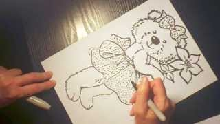 Как нарисовать медвежонка. How to draw a bear