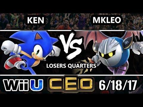 CEO 2017 Smash 4 - KEN (Sonic) vs FOX MVG | MKLeo (Meta Knight) WiiU LQF