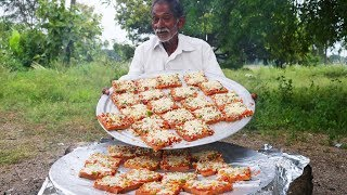 Bread Pizza Recipe | Quick and Easy Bread Pizza by Our Grandpa For Mentally challenged People