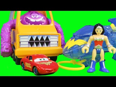 Imaginext Monsters University & Wonder Women with Invisible Jet Disney Pixars Cars Custom Sally