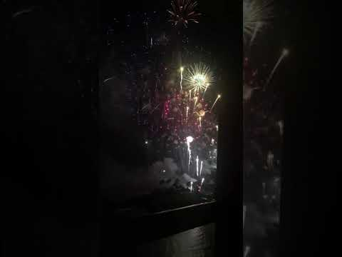Here's another picture of the fireworks we saw at Honolulu Hawaii.